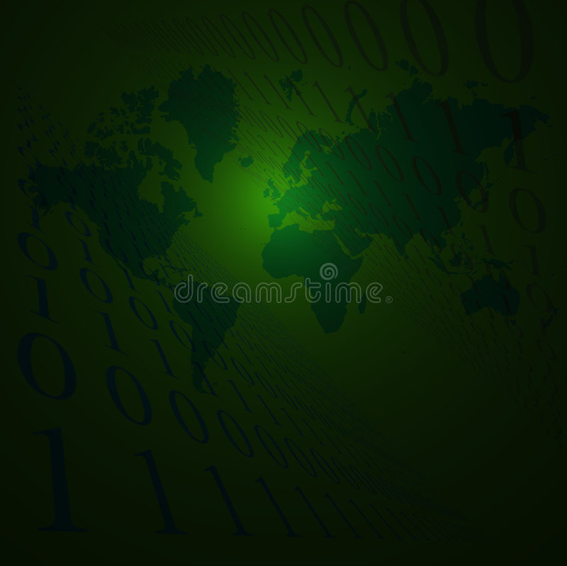La terra binaria si sbiadice royalty illustrazione gratis
