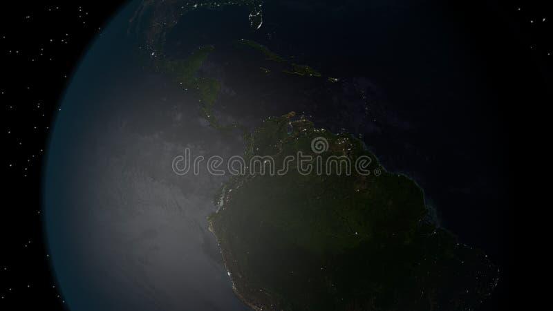 La terra da spazio immagine stock