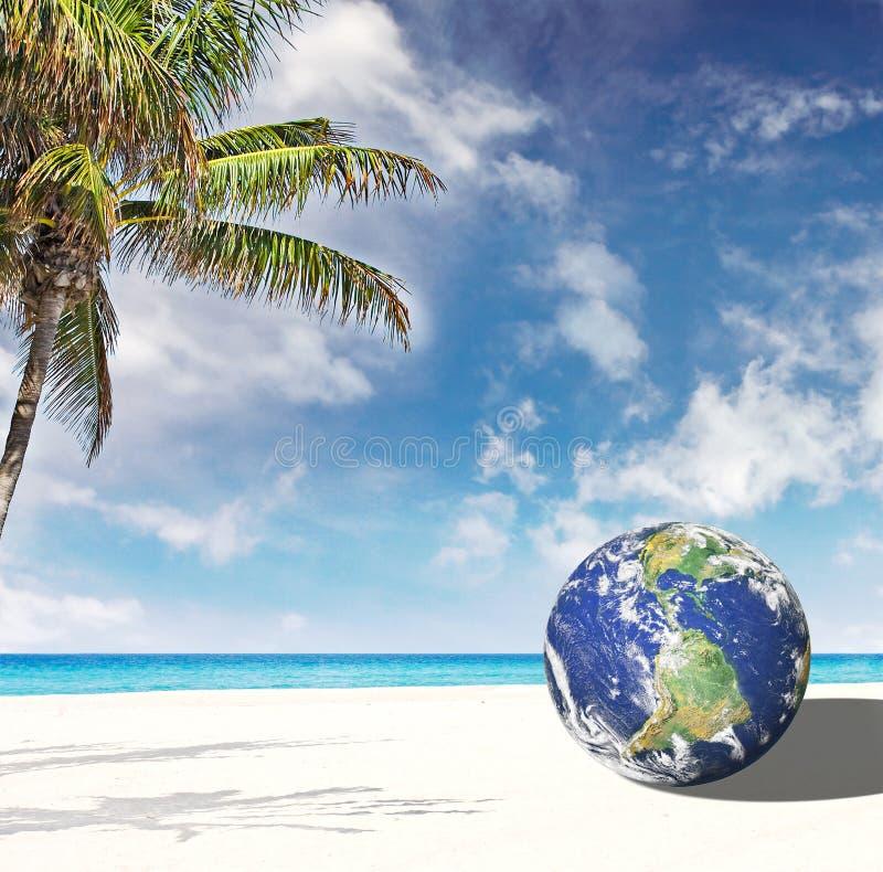 La terra del pianeta va a Miami Florida illustrazione vettoriale