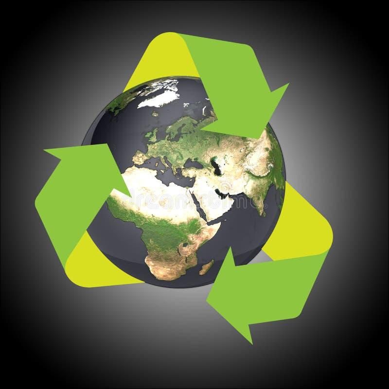 La terra ricicla illustrazione di stock