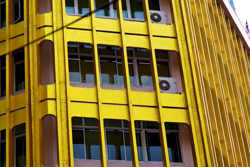 la terrasse Thaïlande de Bangkok dans le bureau marque le buildi moderne images stock