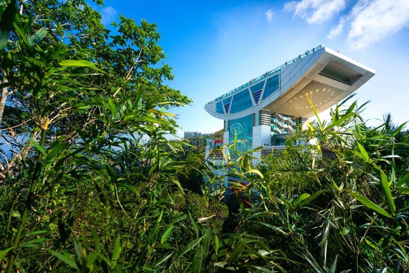 La TERRAZA 428 del CIELO es la torre hermosa en el pico, Hong Kong imágenes de archivo libres de regalías