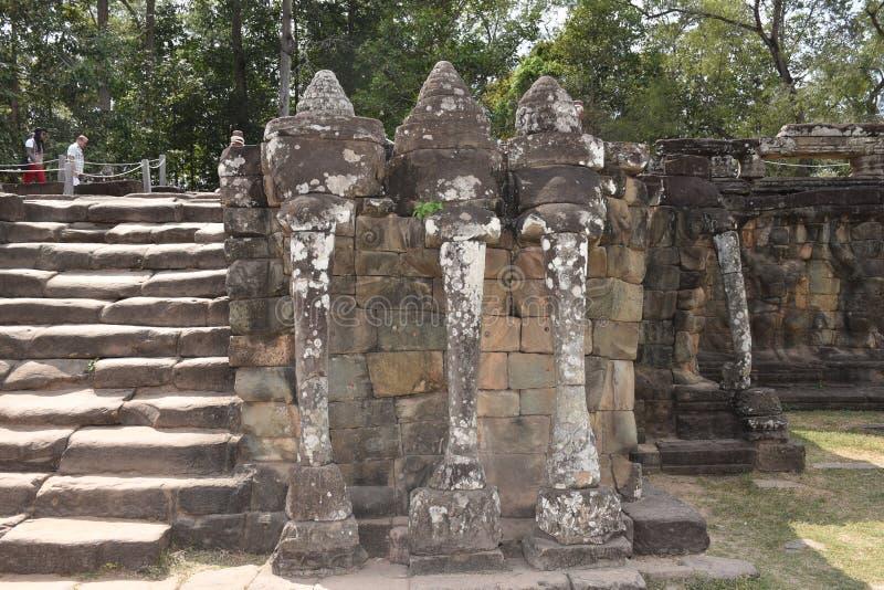 La terraza del elefante imagen de archivo libre de regalías