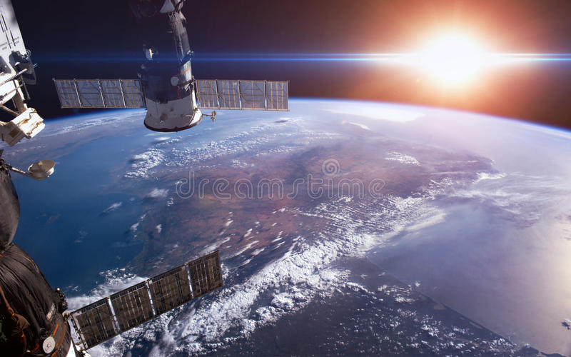 La terre Éléments meublés par la NASA images stock