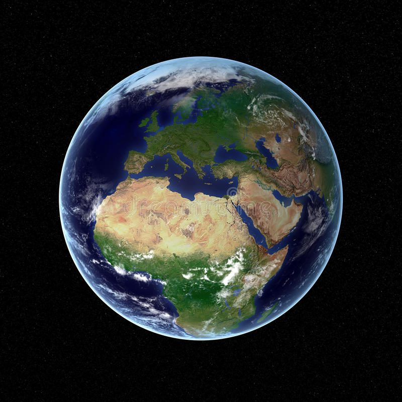 la terre 3D illustration stock