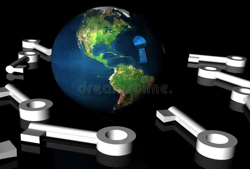 la terre 3d illustration libre de droits