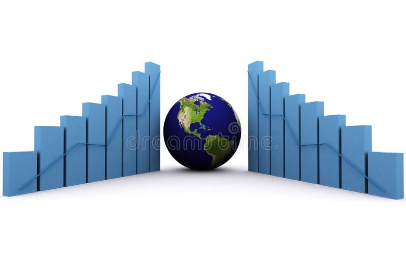 la terre 3d (Amériques) et graphique illustration libre de droits
