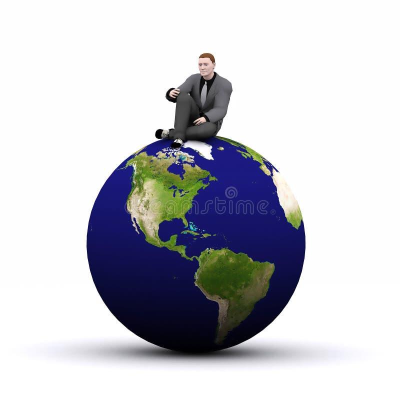 la terre 3d et homme photographie stock libre de droits