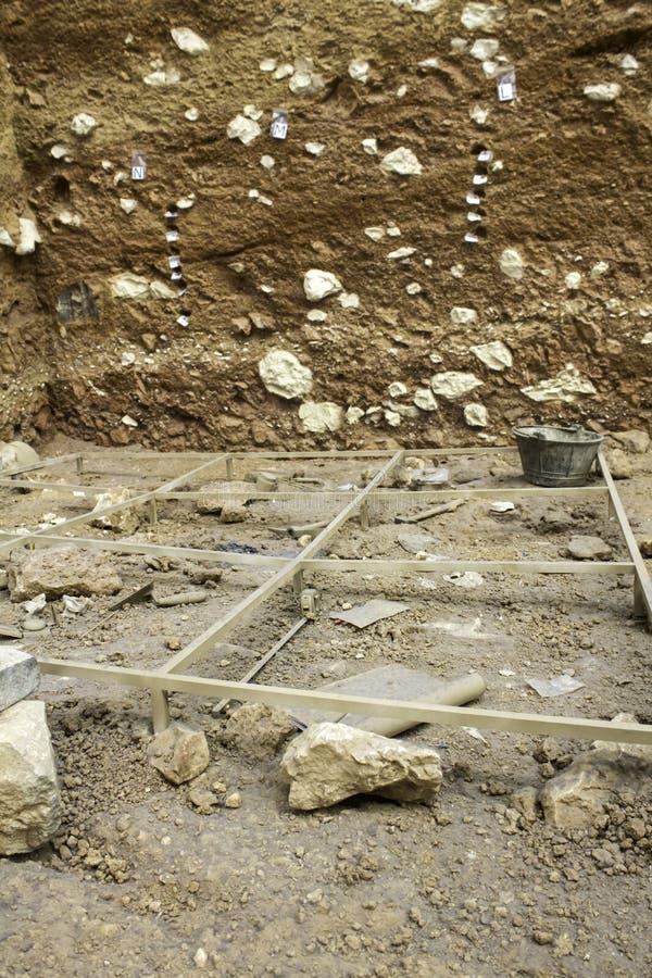 La terre archéologique d'excavations photo libre de droits