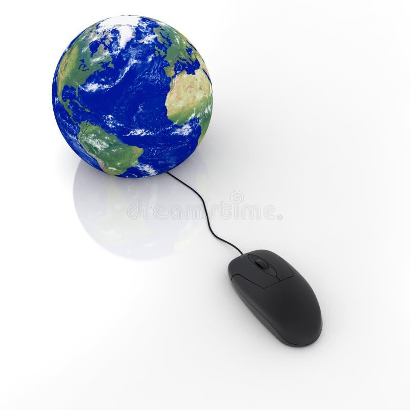 La terre avec la souris illustration stock