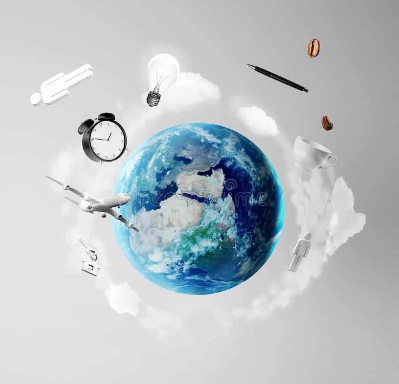 La terre avec la ville illustration stock