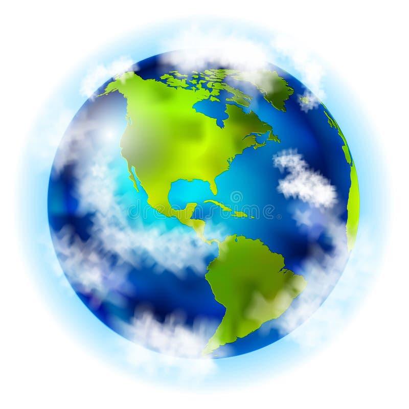 La terre avec le sud et l'Amérique du Nord illustration de vecteur