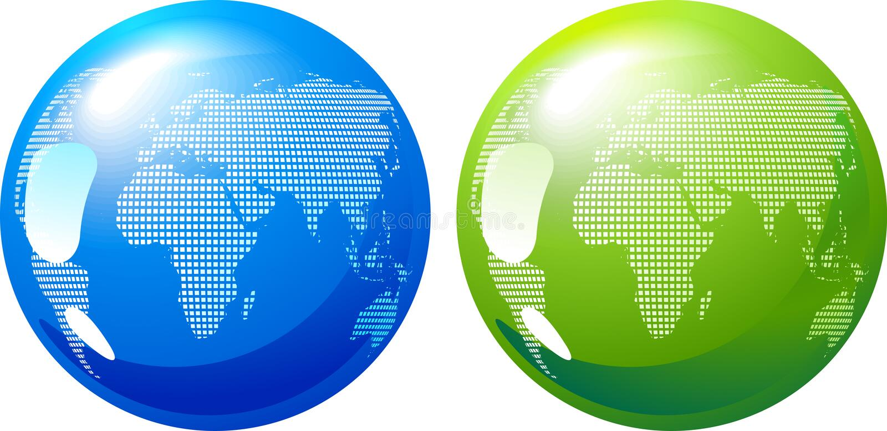La terre bleue et verte - concept d'énergie d'eco illustration de vecteur