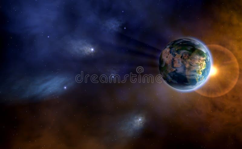 la terre céleste image libre de droits