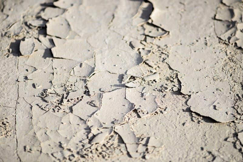 La terre criquée dans les bad-lands image stock