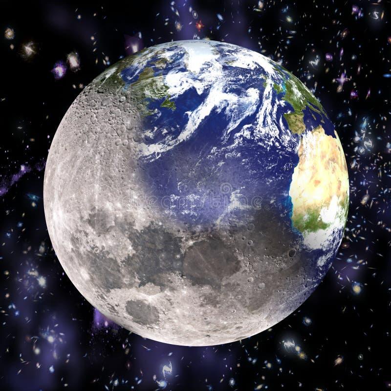 La terre détériorante illustration de vecteur
