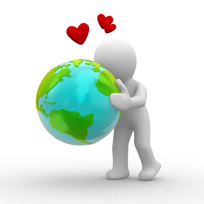 La terre d'amour illustration de vecteur