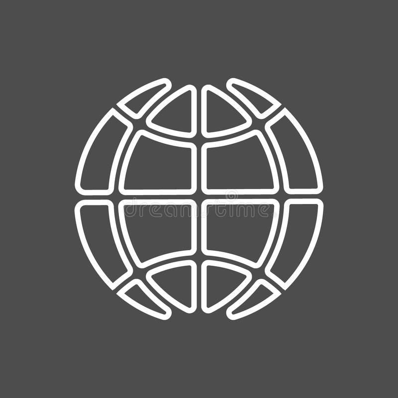 La terre d'icône de vecteur illustration de vecteur