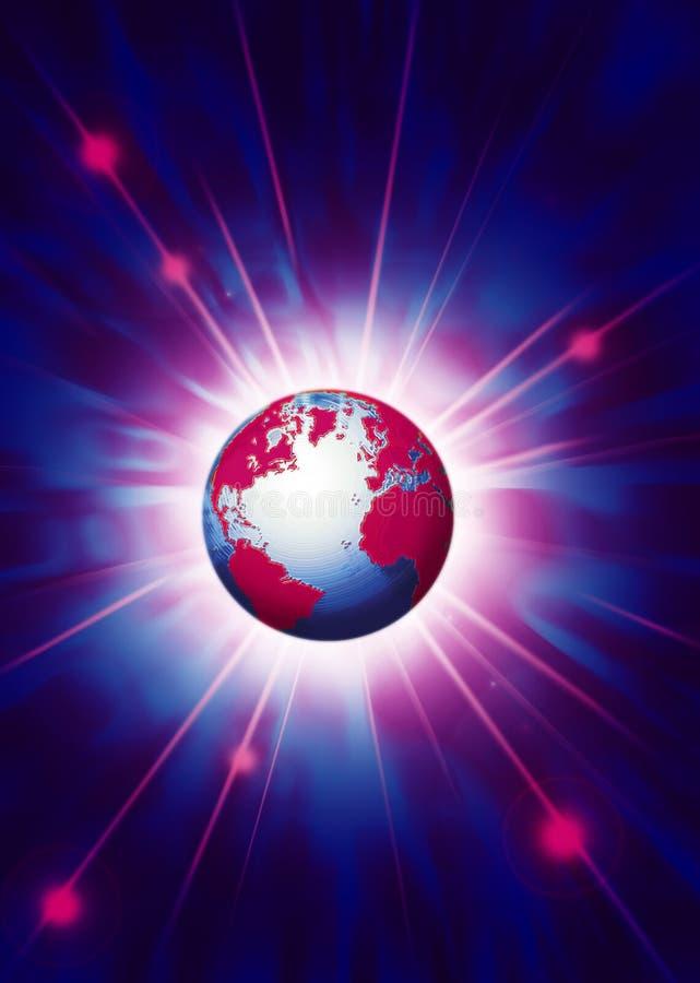 La terre dans l'espace extra-atmosphérique illustration stock