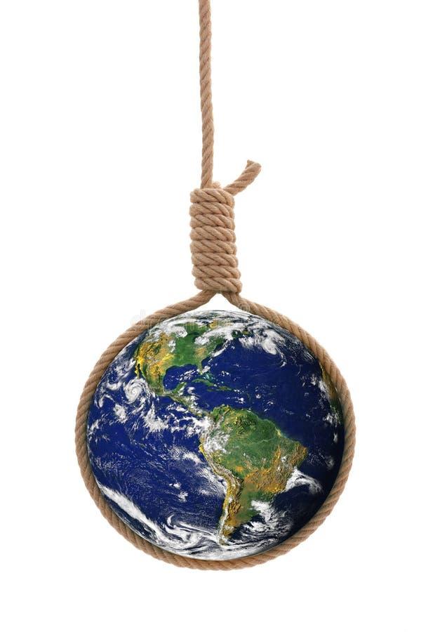 La terre dans la corde de potence photos libres de droits