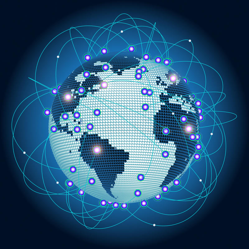 La terre dans un Web illustration libre de droits