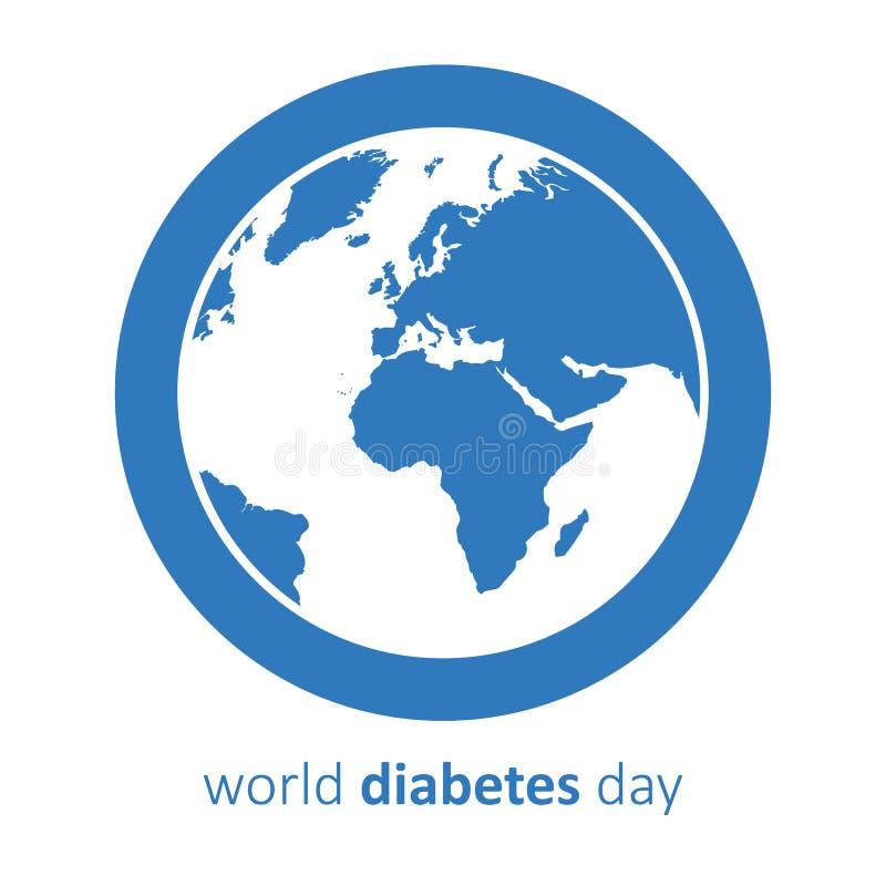 La terre de bleu de jour de diabète du monde illustration stock