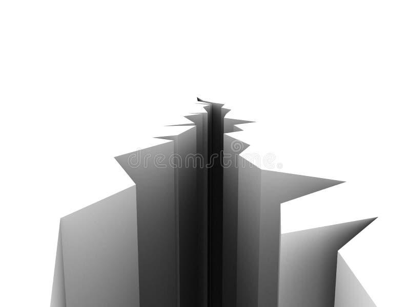 la terre de fissure illustration stock