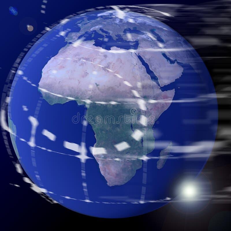 La terre de globe du monde illustration de vecteur