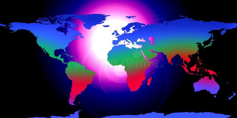 La terre de globe du monde illustration libre de droits