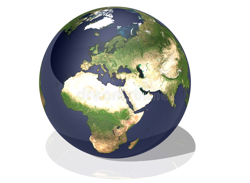 la terre de l'Afrique illustration stock