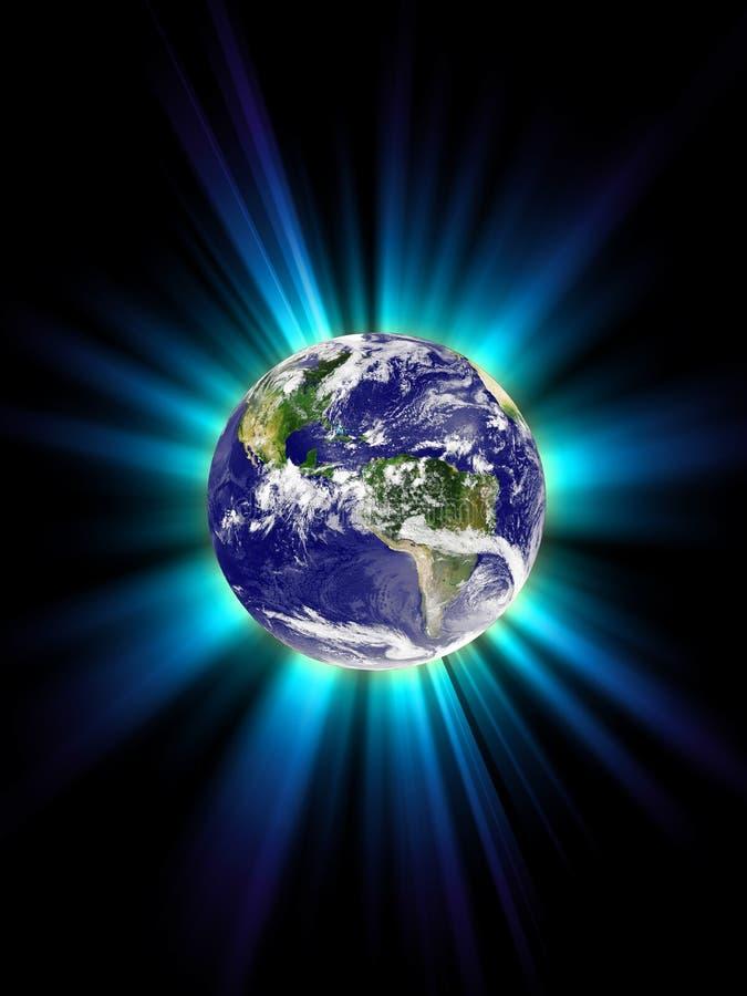 La terre de planète, corona illustration de vecteur