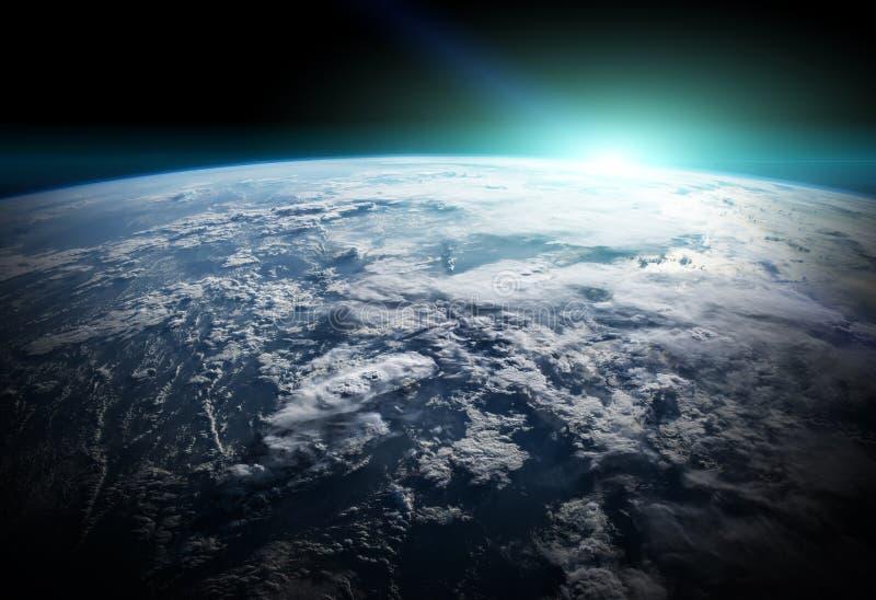 La terre de planète dans des éléments de rendu de l'espace 3D des furnis de cette image illustration de vecteur