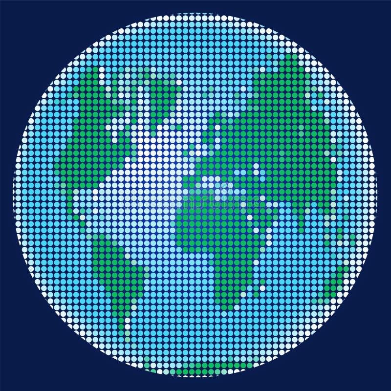 La terre de planète de la mosaïque illustration stock