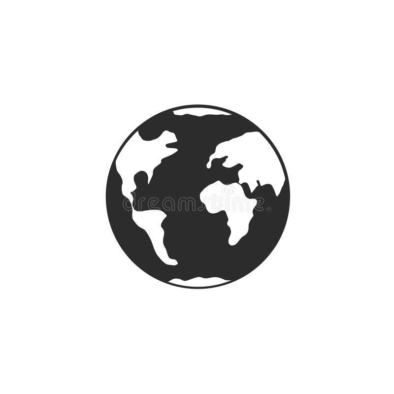 La terre de planète peinte sur le fond blanc images libres de droits