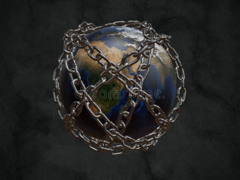La terre de planète de prison illustration libre de droits