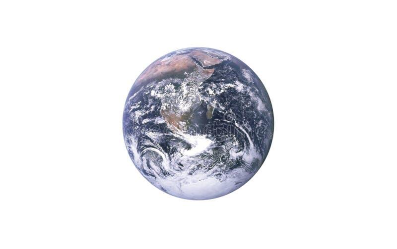 La terre de planète sur un fond blanc d'isolement ?l?ment pour des concepteurs images libres de droits