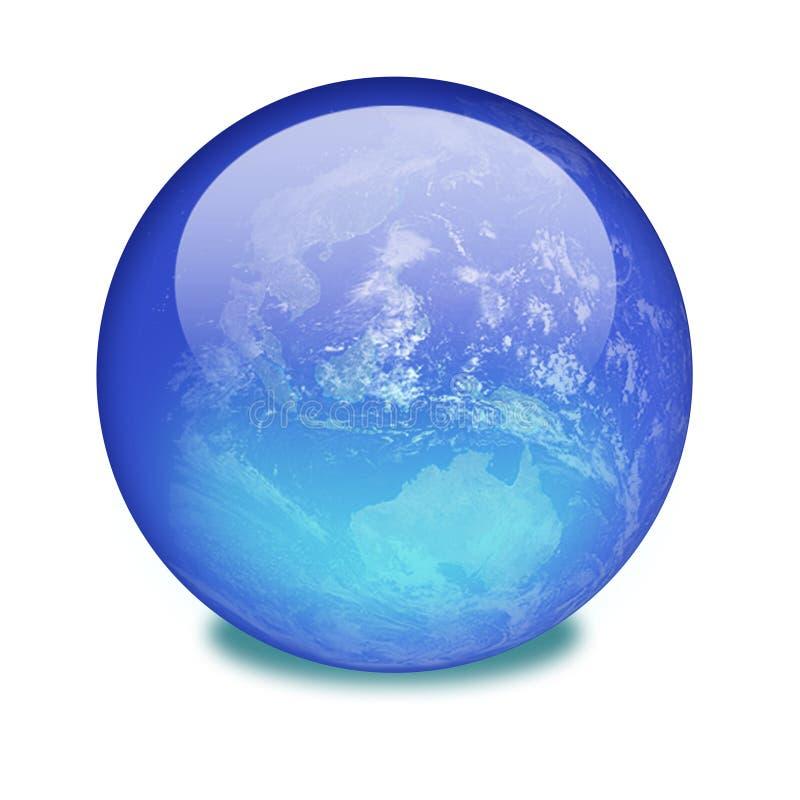 La terre de planète sur un marbre brillant images libres de droits