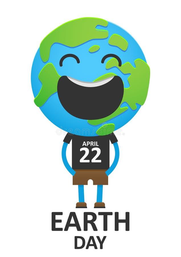 La terre de sourire de planète d'adulte dans un gilet illustration libre de droits