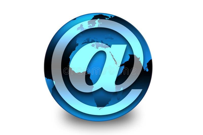 La terre de symbole d'email photographie stock