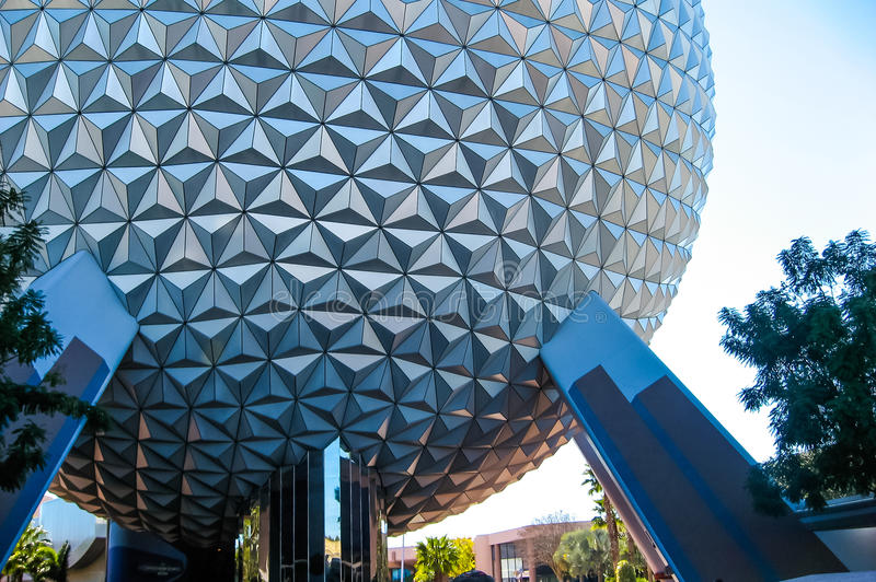La terre de vaisseau spatial, Epcot Walt Disney World photos stock