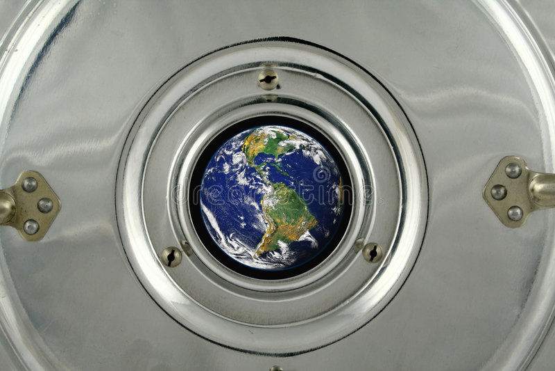 La terre du vaisseau spatial photos libres de droits