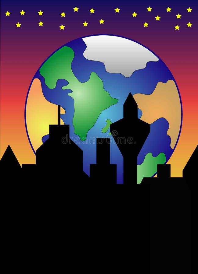 La terre en hausse illustration de vecteur