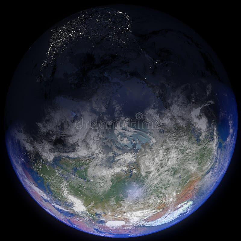 La terre en haut images stock