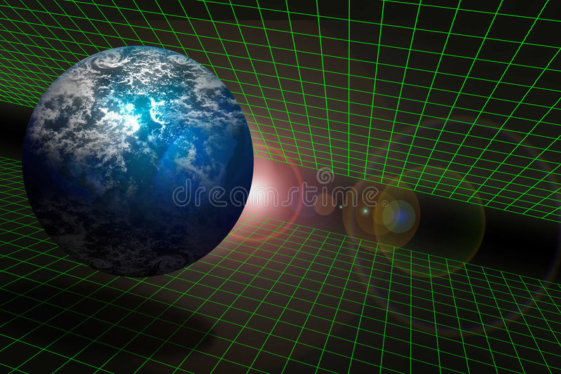 La terre et l'espace sur un réseau illustration libre de droits