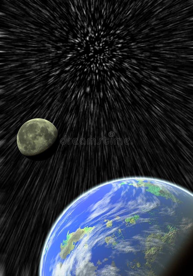 La terre et lune illustration libre de droits