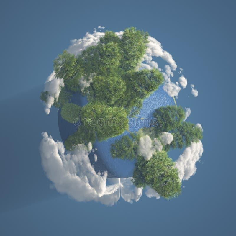 La terre et nuages illustration stock