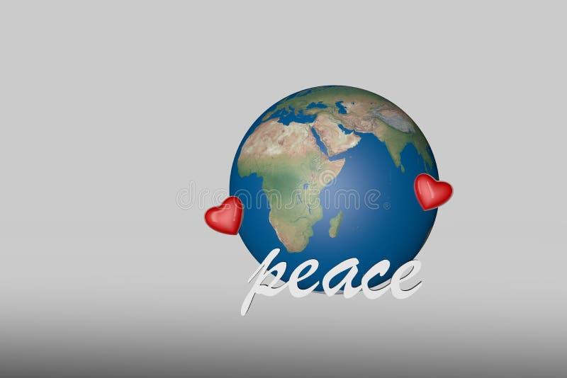 La terre et paix d'amour image libre de droits