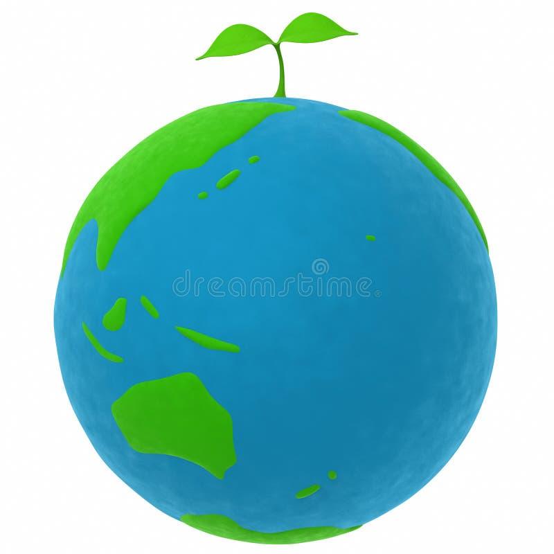 La terre et une centrale illustration de vecteur