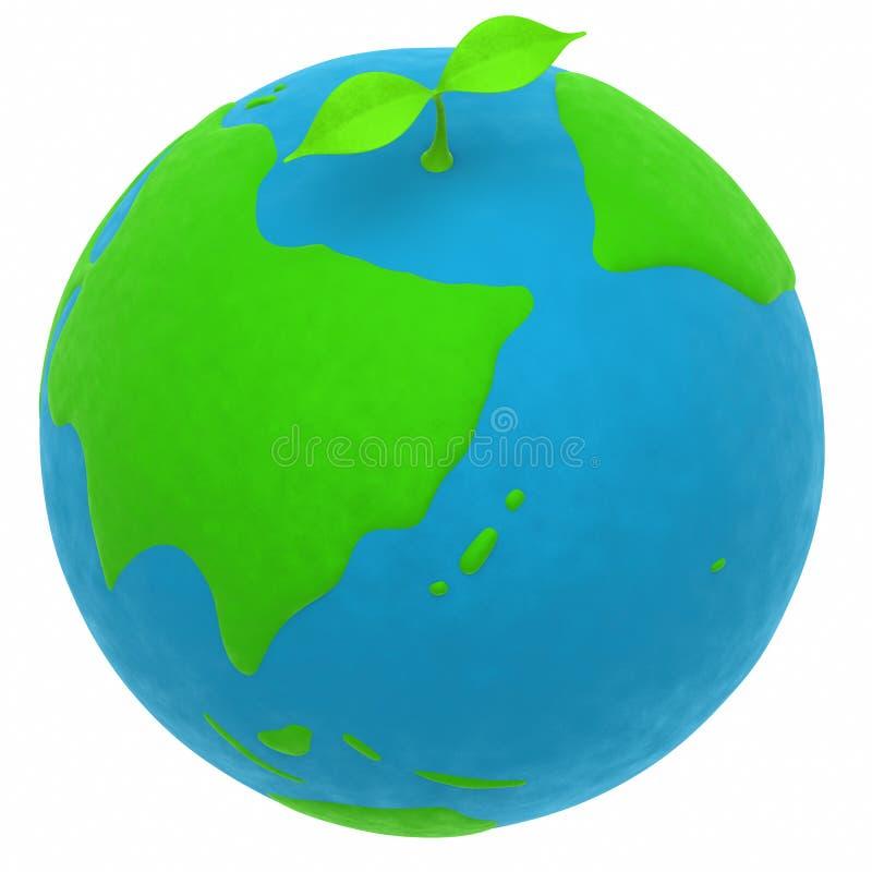 La terre et une centrale illustration stock