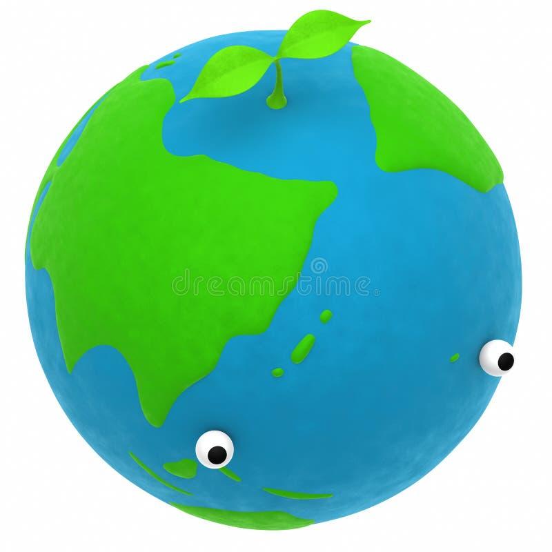 La terre et une centrale illustration libre de droits
